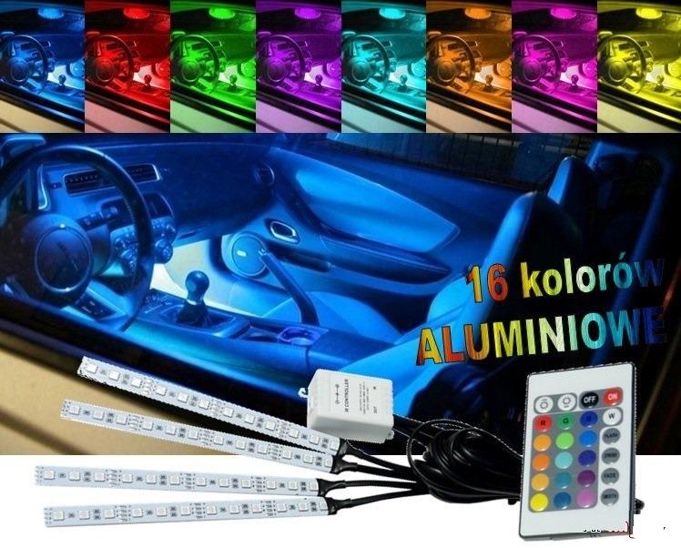 Oświetlenie Wnętrza Auta Kabiny Samochodu Led Rgb Produktytv